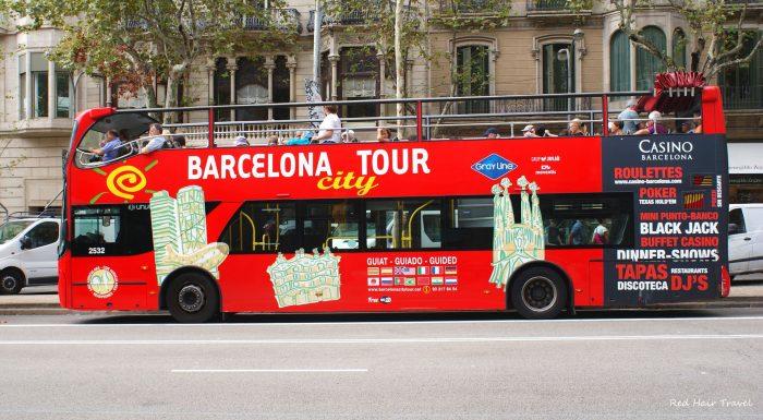 bus touristic in Barselona
