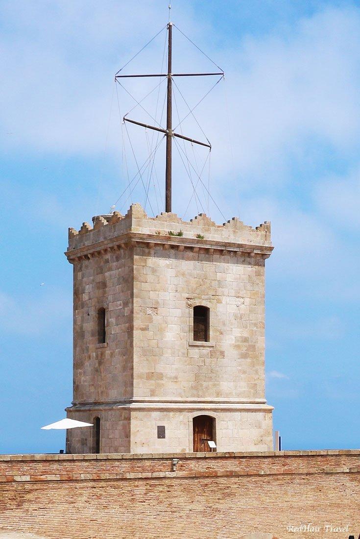 Крепость Монжуик, башня
