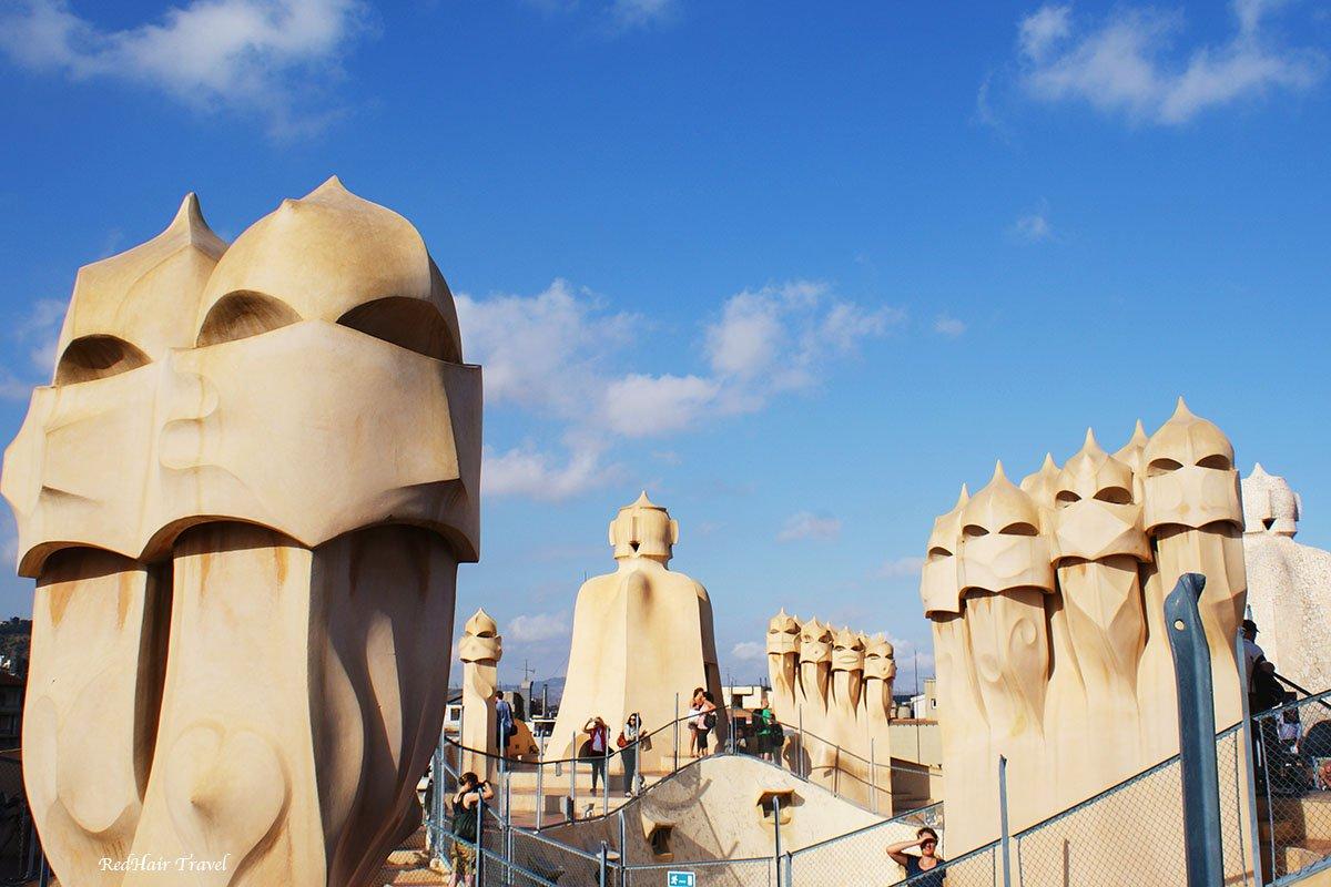 Крыша Педреры, дом Мила, Барселона