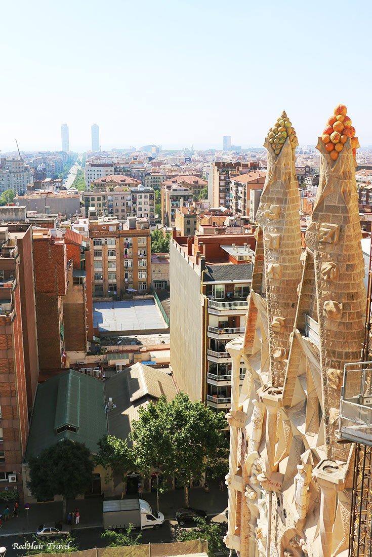 вид из башни Саграда Фамилия, Барселона