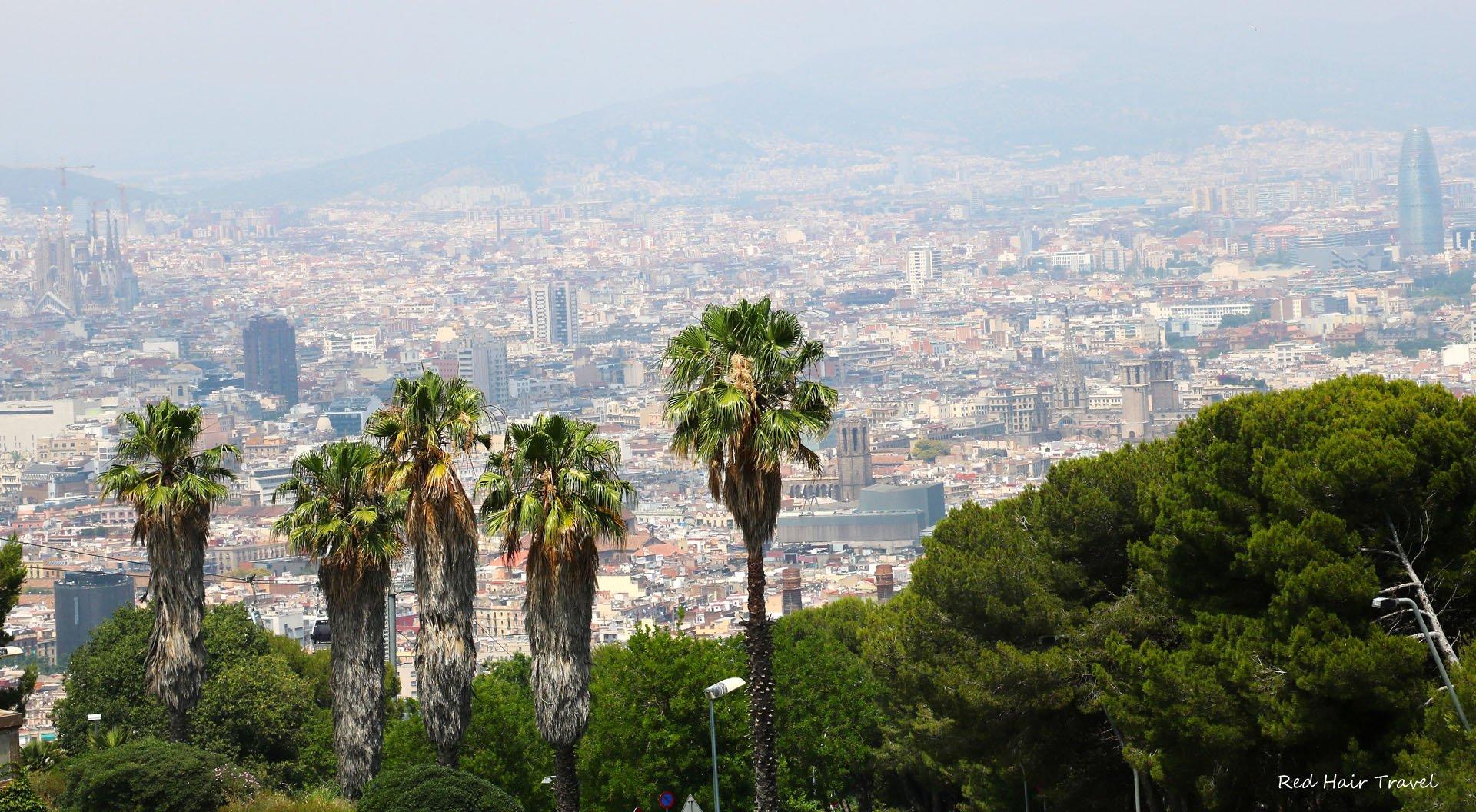 Барселона, вид с горы Монжуик