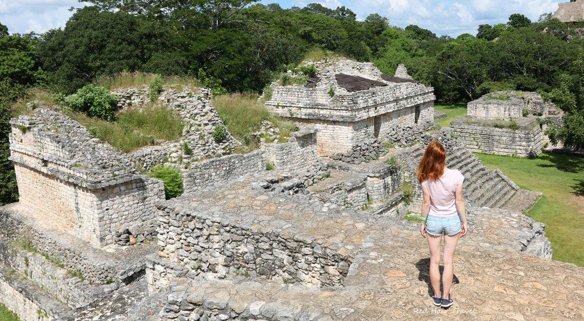 Вид с руин майя в Эк Балам