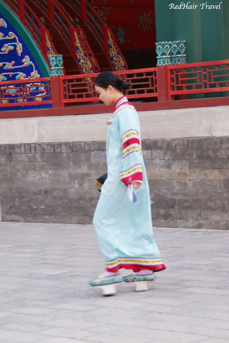 chinese girl in traditional costume