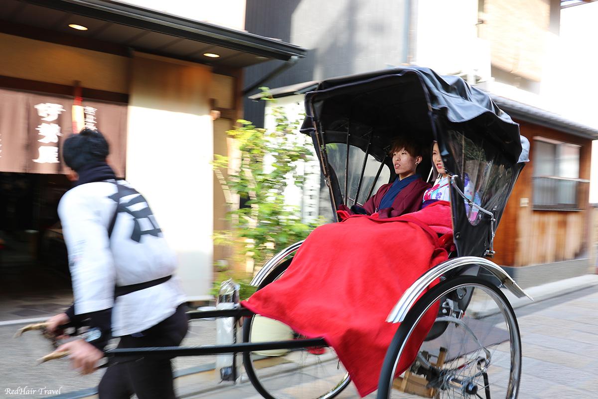 рикша, Япония, Киото