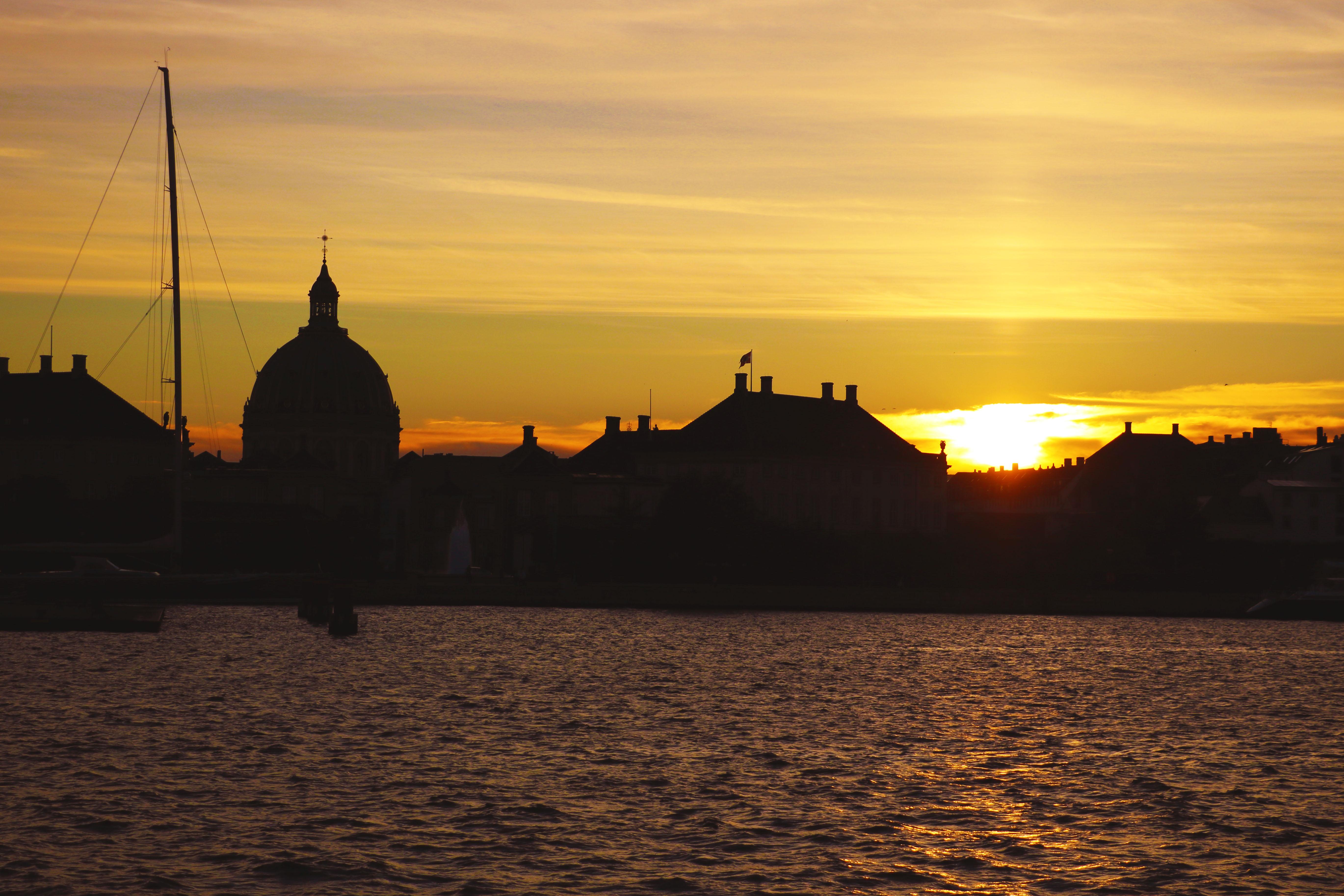 Копенгаген, закат