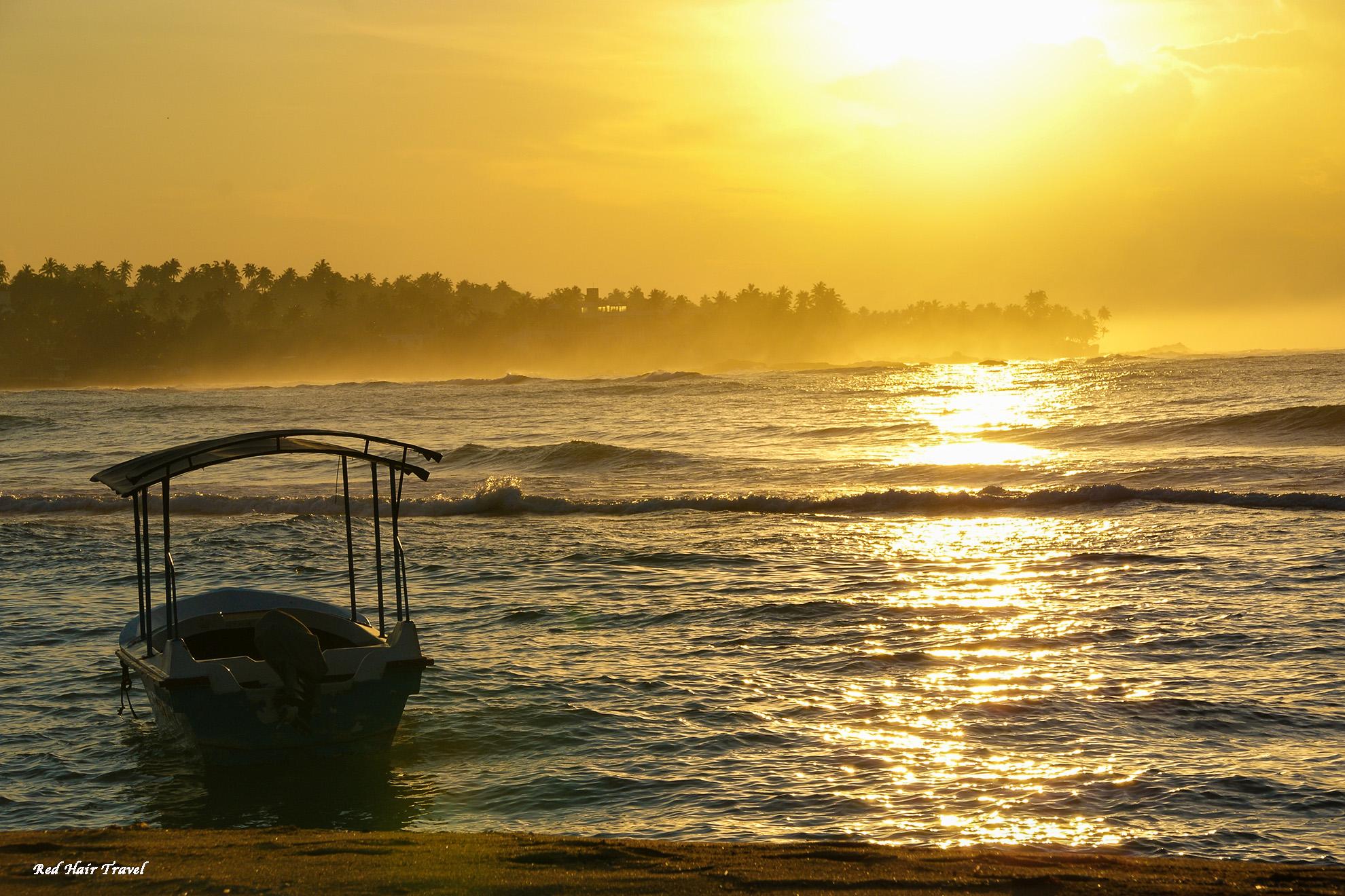 Унаватуна, Шри Ланка, рассвет
