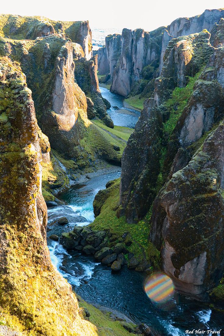 Фьядрарглйуфур, каньон в Исландии