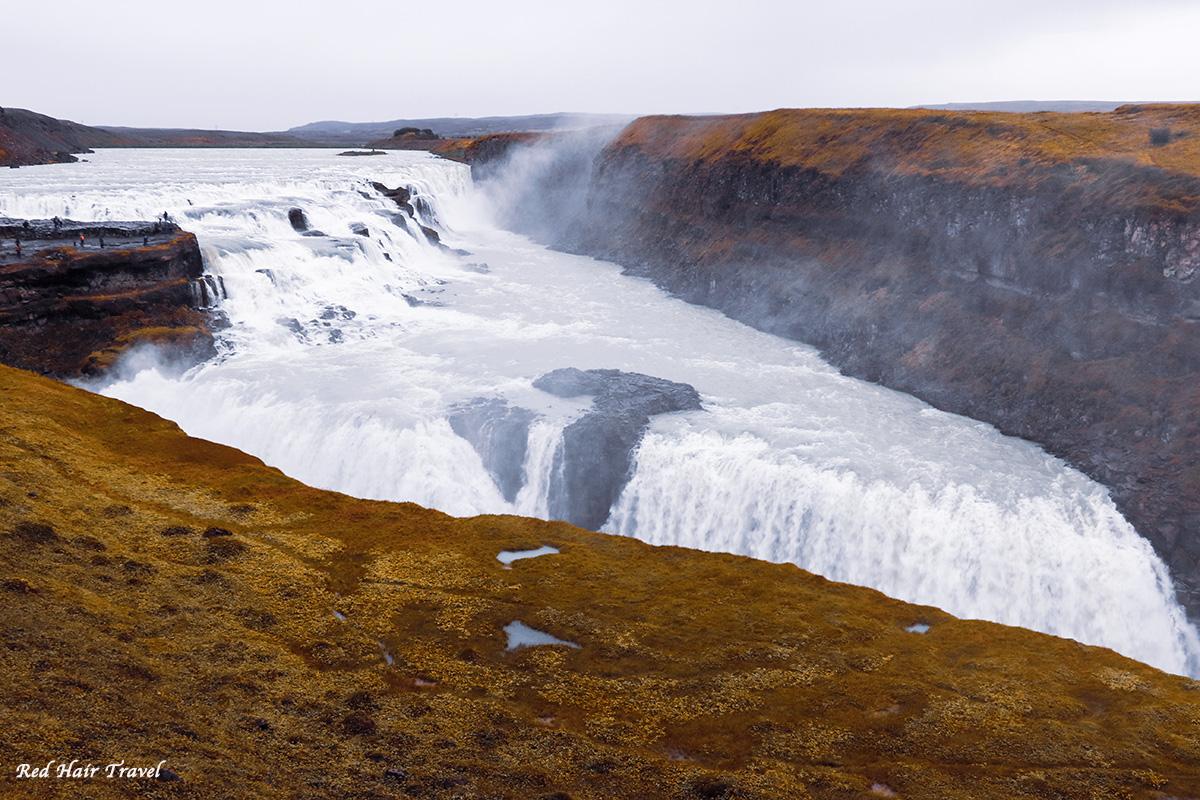 Гульфосс, водопад в Исландии, Золотое Кольцо