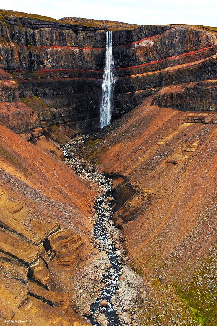 Водопад Хенгифосc, Hengifoss, топ мест в Исландии