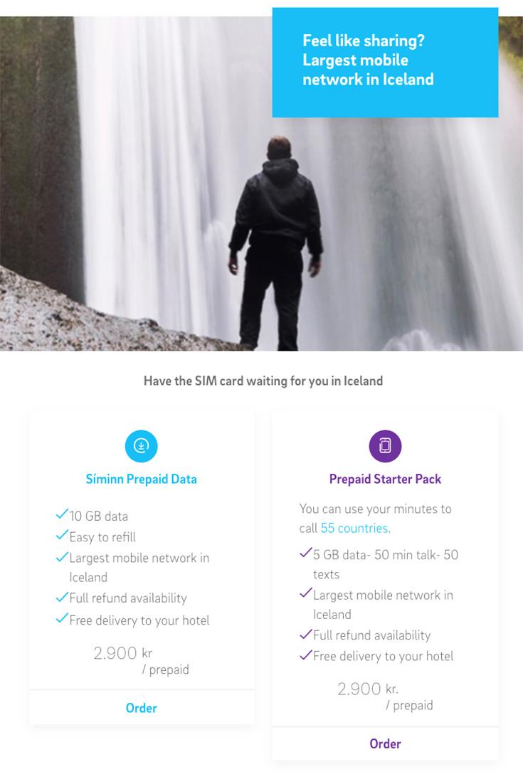 мобильная связь в Исландии