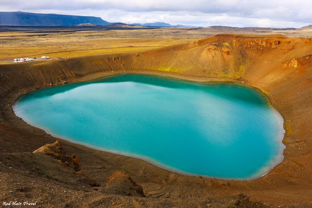 Озеро в кратере Вити,Víti, Исландия