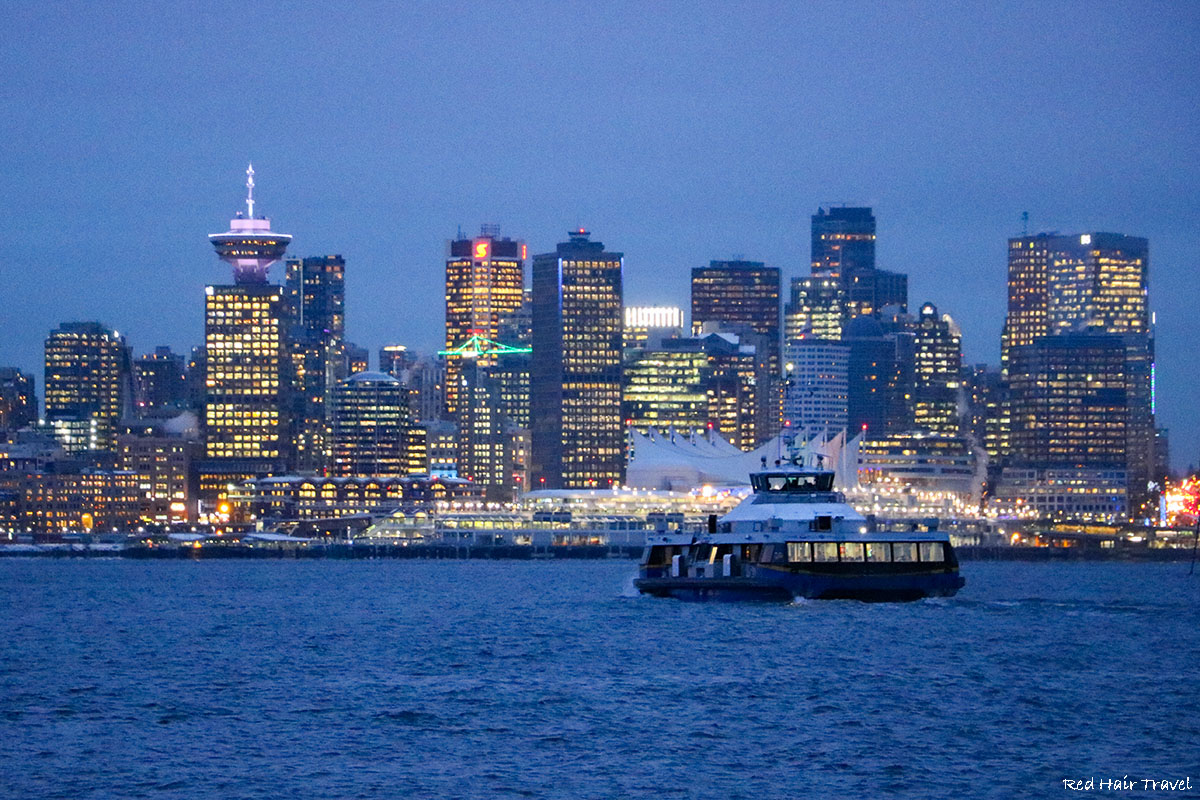 вид ночного Ванкувера
