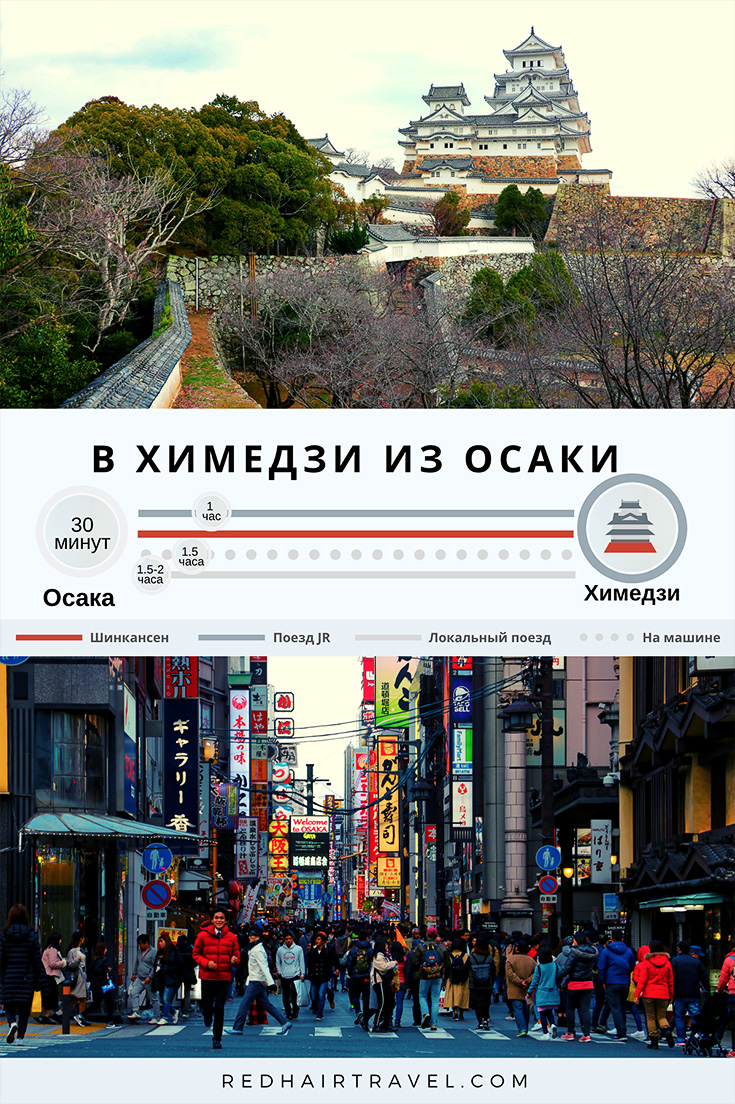 как добраться в Химедзи из Осаки