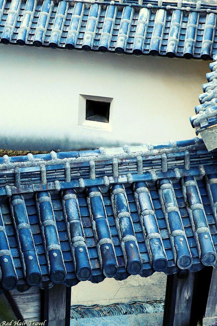 Химедзи замок, черепица