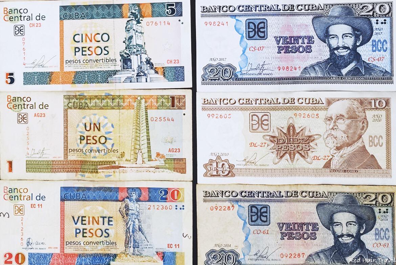 Обмен валюты на Кубе