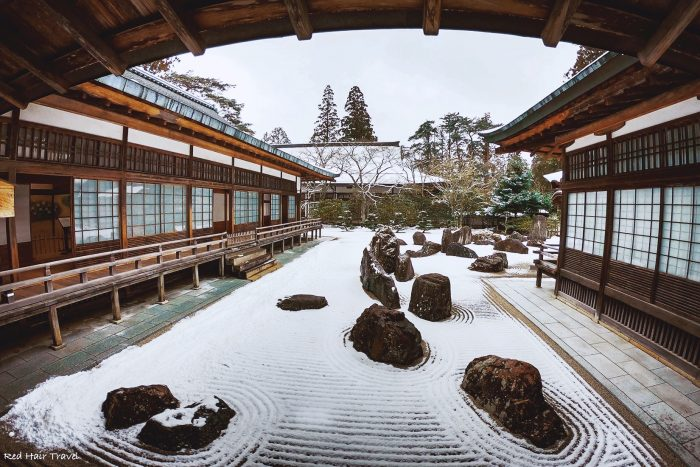 koyasan, Japan, stone garden in the temple