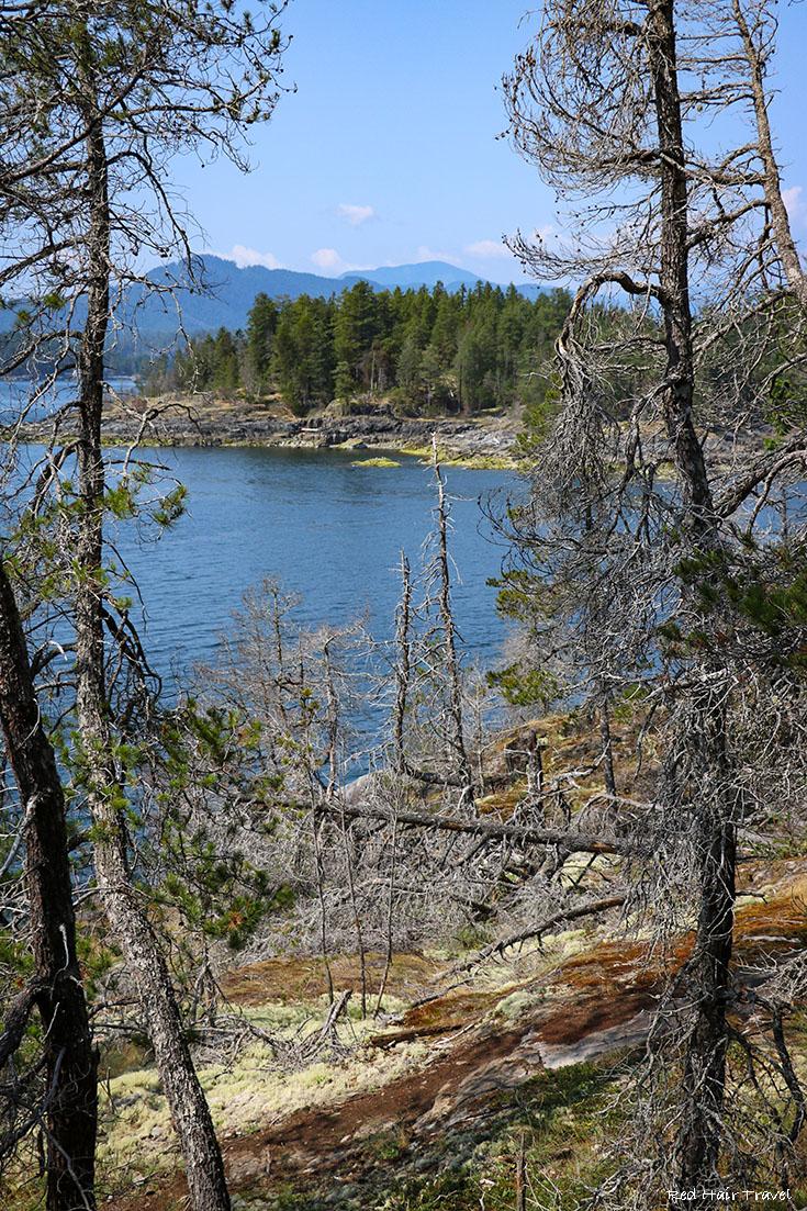 Хайкинг на острове Beaver (Francis Point Provincial Park),саншайн кост