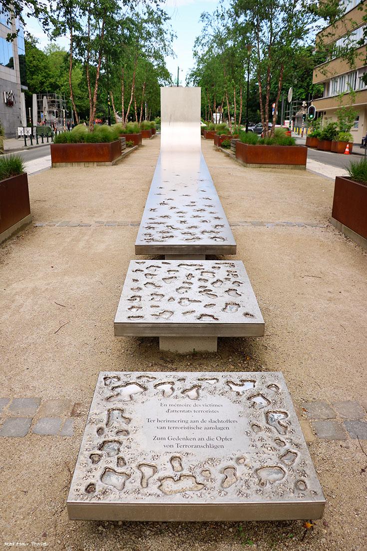 мемориал жертвам терактов в Брюсселе