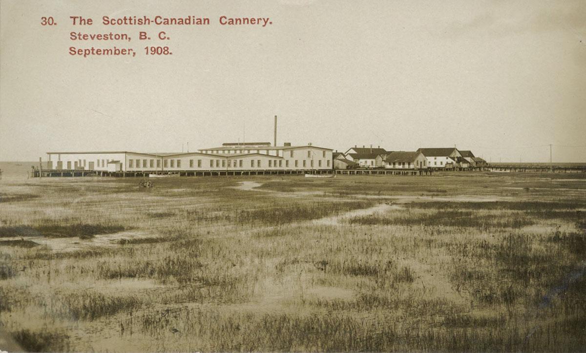The Scottish-Canadian Cannery, Стивстон, B.C., 1908 год, Garry Point