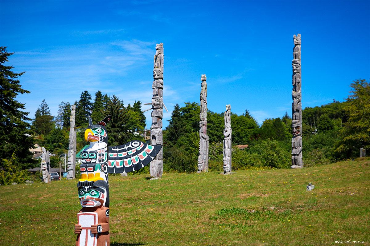 Namgis Original Burial Grounds, Alert Bay, North Vancouver Island