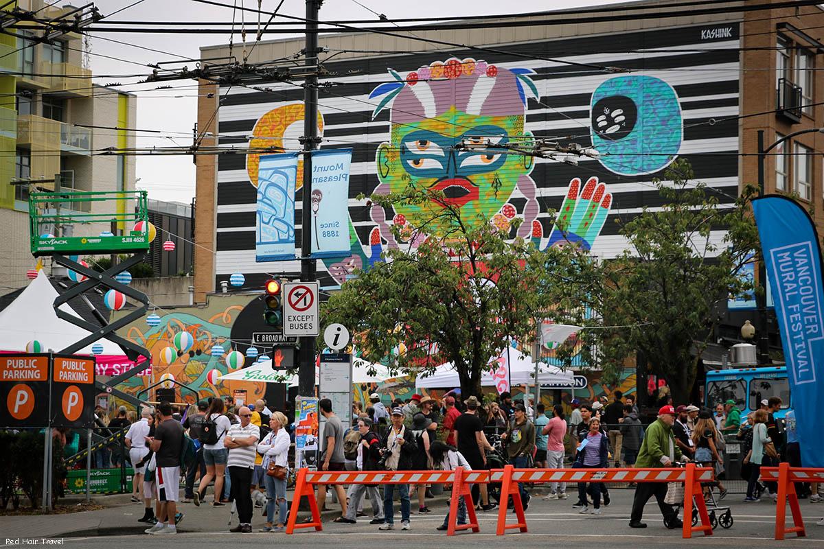 фестиваль муралов в Ванкувере
