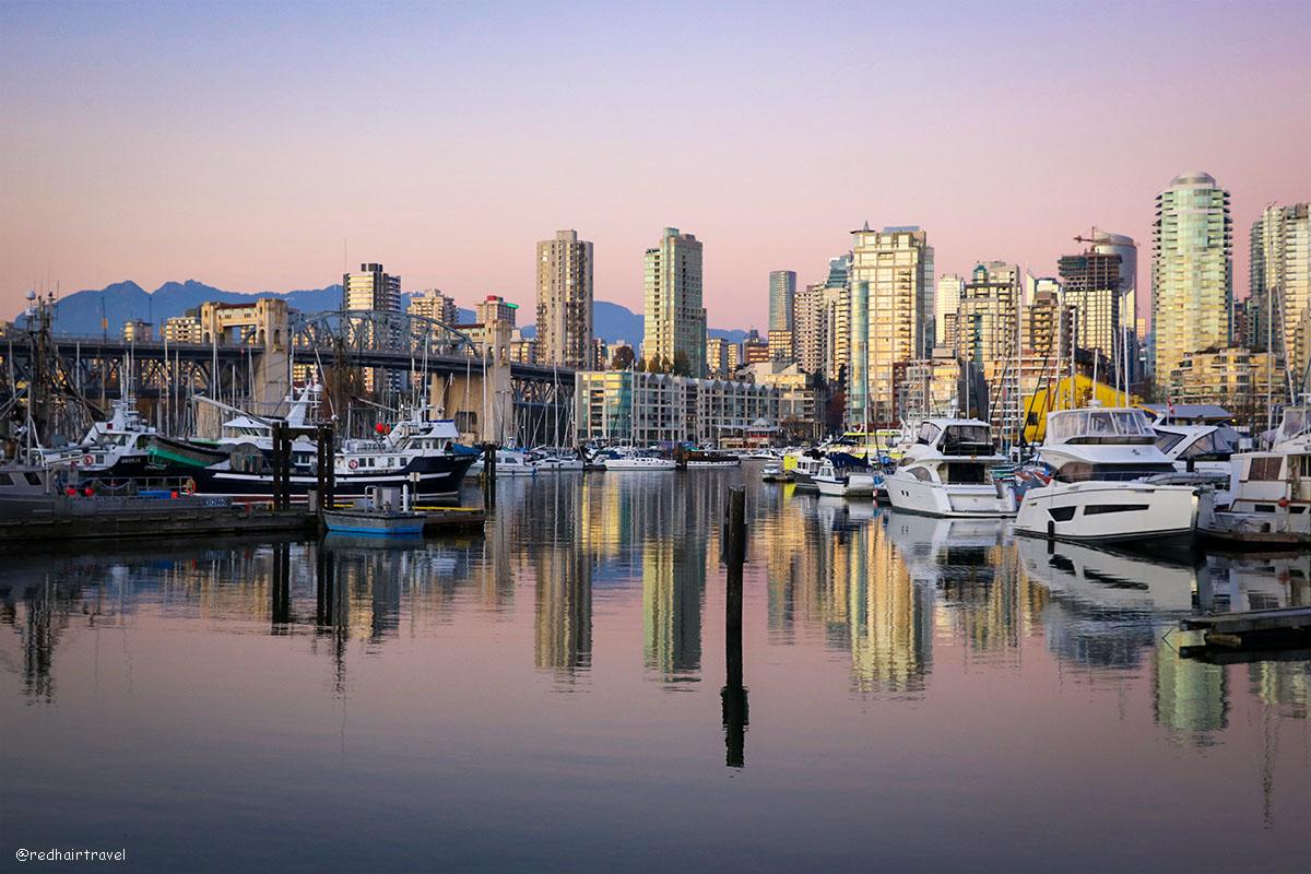 Granville island sunset, Vancouver