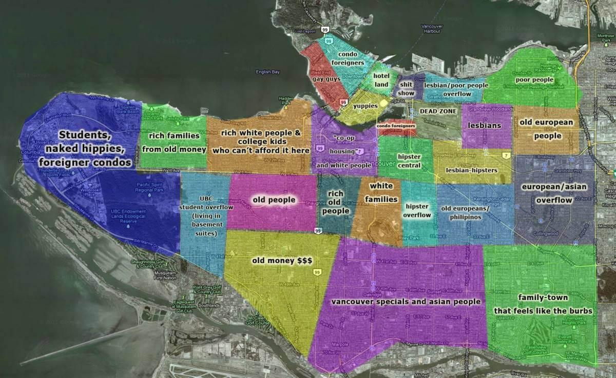 нетактичная карта ванкувера