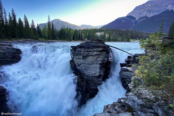 Athabasca Falls, Jasper,маршрут по Скалистым Горам Канады