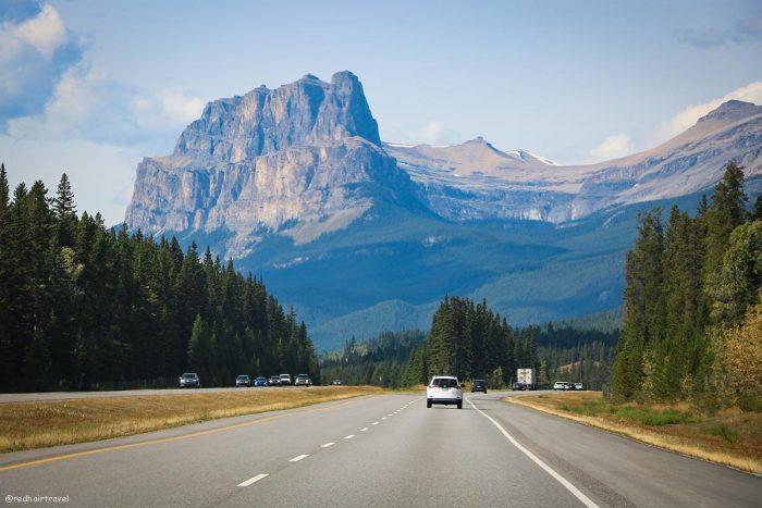 Castle Mountain, маршрут по Скалистым Горам Канады