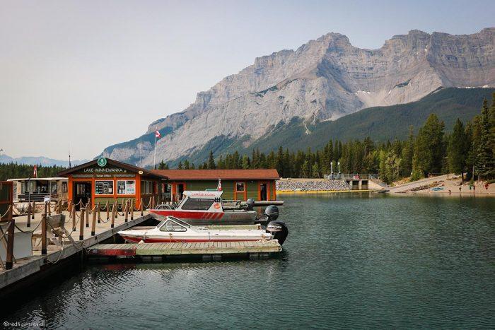 Lake Minnewanka, маршрут по Скалистым Горам Канады