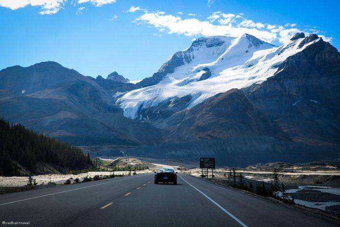 Stutfield Glacier Viewpoint, Rockies, Canada, маршрут по Скалистым Горам Канады