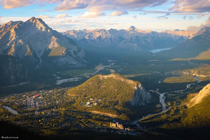 Banff Gondola view, маршрут по Скалистым Горам Канады
