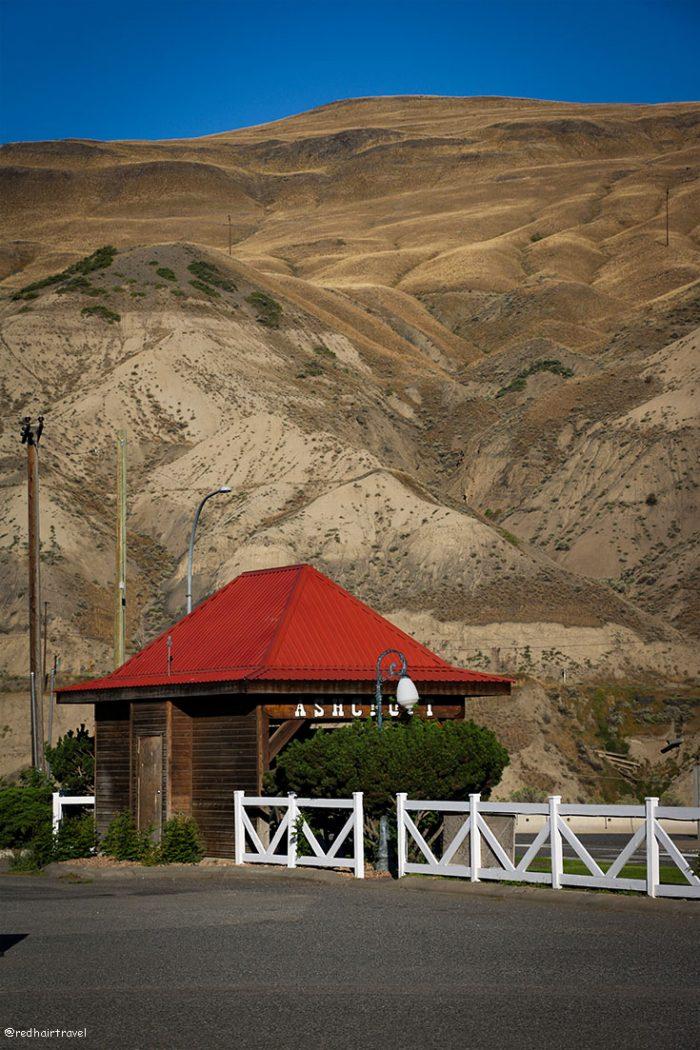 Aschroft, BC, маршрут по Gold Rush Trail