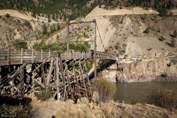 Old Bridge Lilloet, маршрут по Gold Rush Trail, BC