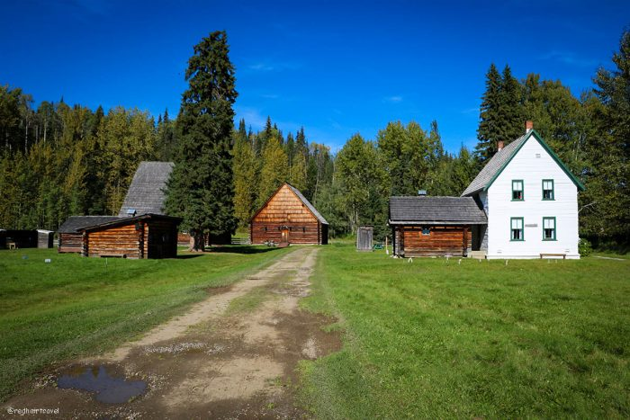 heritage village, Prince George, маршрут по Gold Rush Trail, BC