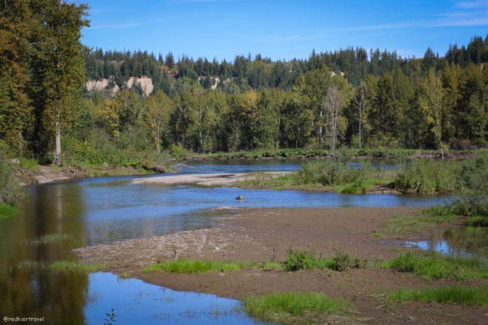 Cottonwood Island Park, маршрут по Gold Rush Trail, BC