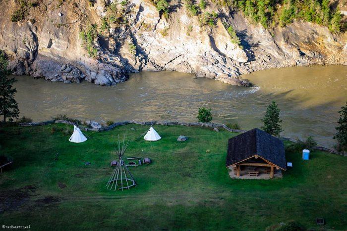 деревня, маршрут по Gold Rush Trail, BC
