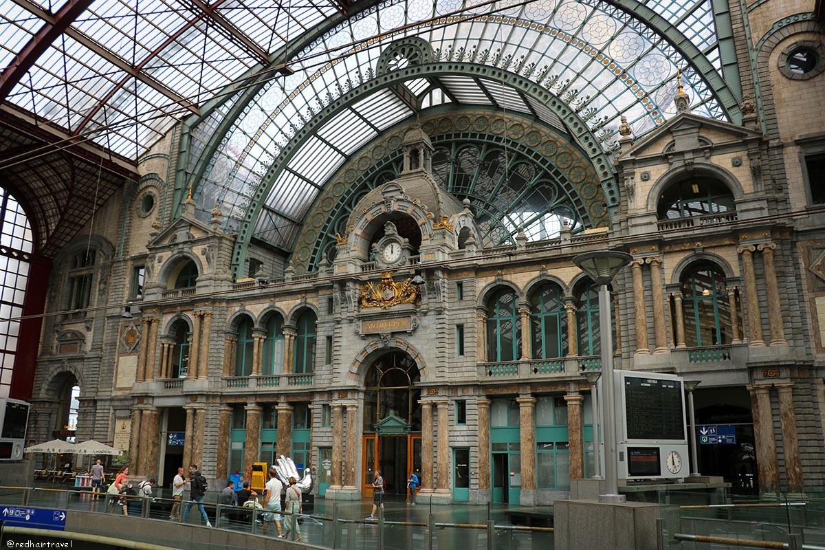 Антверпен, Бельгия, вокзал