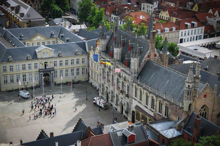 Брюгге, Бельгия, вид с Крепости