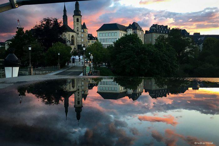 Люксембург закат