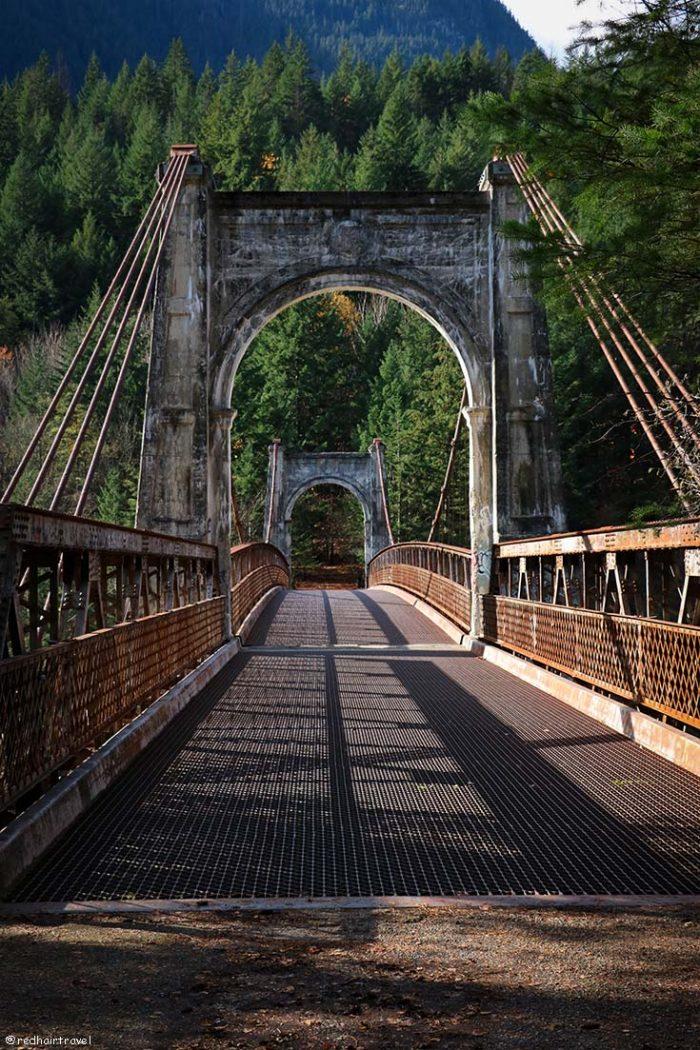 Alexandra Bridge, маршрут по Gold Rush Trail, BC